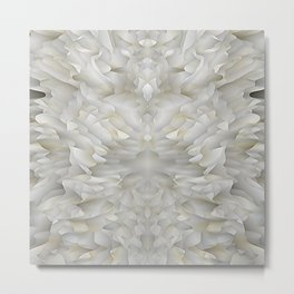 White Mirror Smudge Metal Print