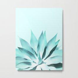 Aqua Solar Agave Metal Print