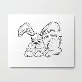 Hip Hop :: A Bunny Rabbit Metal Print