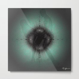 sustainable deep green Lovers Metal Print