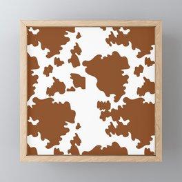 Cow Pattern   Cow Spots Farm Farmer Animal Milk Framed Mini Art Print