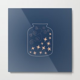 jar full of stars Metal Print