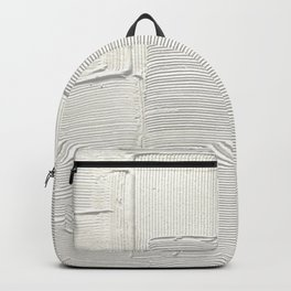 Relief [2]: an abstract, textured piece in white by Alyssa Hamilton Art Rucksack