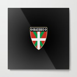 Basque Country Shield Metal Print