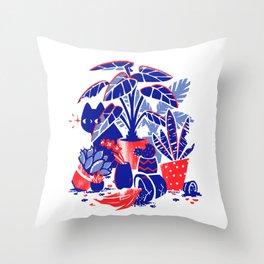 Horticulture Horror Throw Pillow