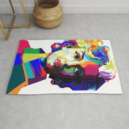 Marilyn Pop Art WPAP Rug