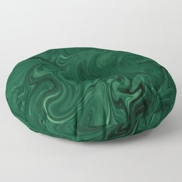 Modern Cotemporary Emerald Green Abstract Floor Pillow