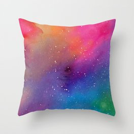 Watercolor Space 1 Throw Pillow