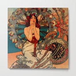 "Alphonse Mucha ""Monaco Monte Carlo"" Metal Print"