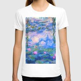 Water Lilies Claude Monet Restored T-shirt