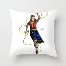 Scythian Woman of Wonder Throw Pillow