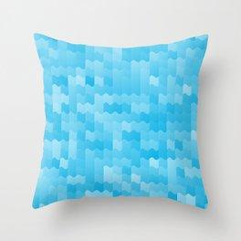 Aqua Blue Waves Throw Pillow