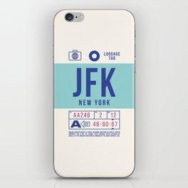 Baggage Tag B - JFK New York John F. Kennedy USA iPhone Skin