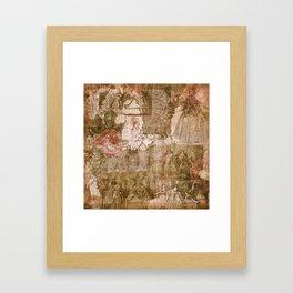 Vintage & Shabby Chic - Victorian ladies pattern Gerahmter Kunstdruck