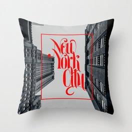 New York urban landscape photo Throw Pillow