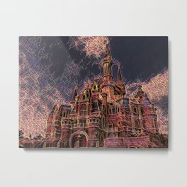 Shangai Cartoon Castle Artistic Illustration Firework Style Metal Print