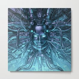 Mind of the Machine Metal Print