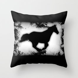 Western-look Galloping Horse Silhouette Throw Pillow