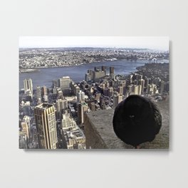 It's Chilly Up Here (New York) Metal Print