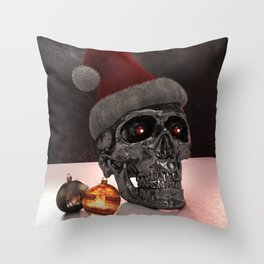 T-Xmas (The Christmasnator) Throw Pillow