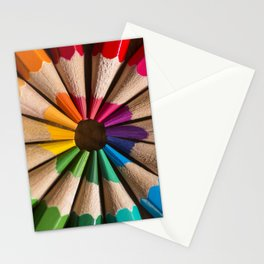 Wooden coloured pencils Stationery Cards