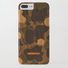 Modern Woodgrain Camouflage / Duck Print iPhone 8 Plus Slim Case