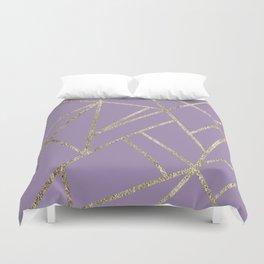 Classic Lavender Gold Geo #1 #geometric #decor #art #society6 Duvet Cover