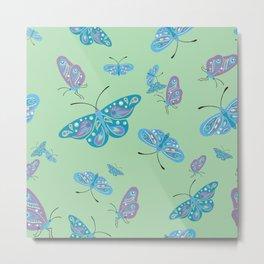 Butterflies in Flight 2 Metal Print