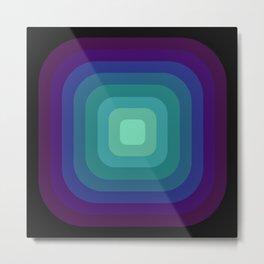 Purple and Blue Square Metal Print