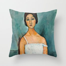 Egon Schiele Houses With Laundry Throw Pillow