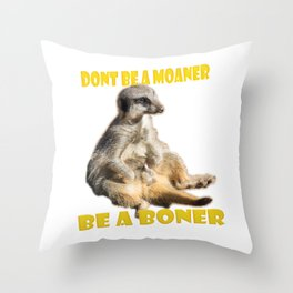 Meerkat Boner Throw Pillow