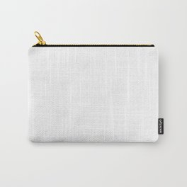 White Minimalist Solid Color Block Carry-All Pouch