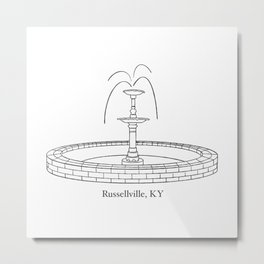 Russellville Fountain Metal Print