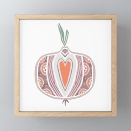 Onion Framed Mini Art Print