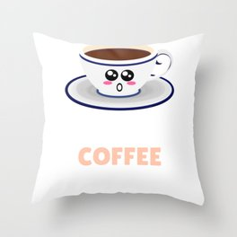 A Yawn Is A Silent Scream For Coffee Funny Coffee Pun Throw Pillow