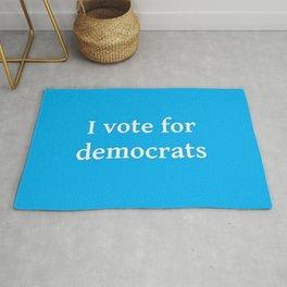 I vote for democrats 2 Rug