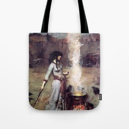 THE MAGIC CIRCLE - JOHN WILLIAM WATERHOUSE Tote Bag