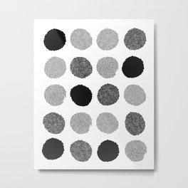 Yves - greyscale monochrome minimal pattern dots art print cell phone case for modern decor Metal Print