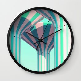 Teal Towers Wall Clock
