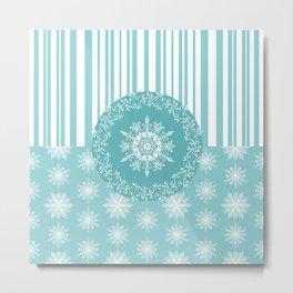 Frosty Snowflakes Coordinate Metal Print
