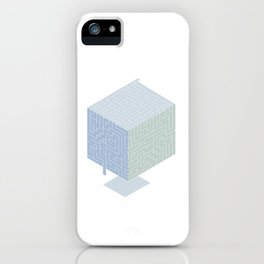 3D labyrinth iPhone Case