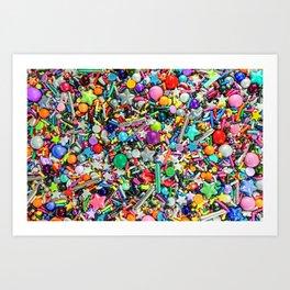Rainbow Sprinkles - cupcake toppings galore Art Print