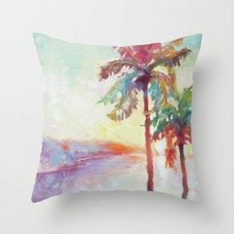 Sunrise in Hawaii Throw Pillow