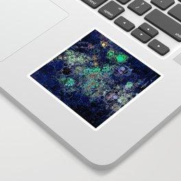 Dark Indigo Turquoise Abstract Design Sticker