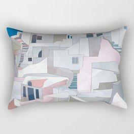 greece houses santorini Rectangular Pillow
