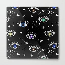Eyes In the Dark Metal Print