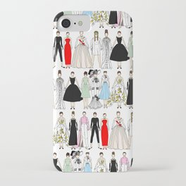 Outfits of Audrey Fashion (White) iPhone Case