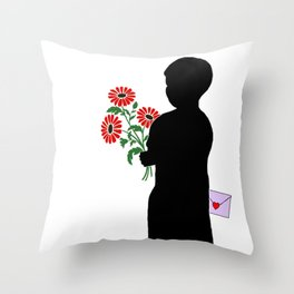 Secret Admirer Throw Pillow