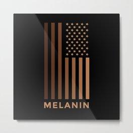 Melanin USA Flag Metal Print