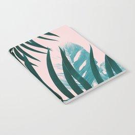 Palm & Monstera Leaves Mix #1 #foliage #decor #art #society6 Notebook